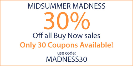 Midsummer Madness - 30% off all Buy Now domains